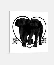 Pareja de elefantes decoración