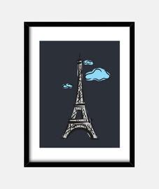 paris avec des nuages