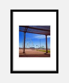Park - Cuadro con marco negro vertical 3:4 (15 x 20 cm)