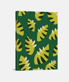 patrón de la hoja verde abstracta con garras
