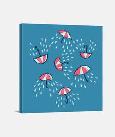patrón de la lluvia paraguas diversión de la historieta