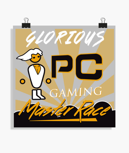 Pc master race glorious pc gaming poster