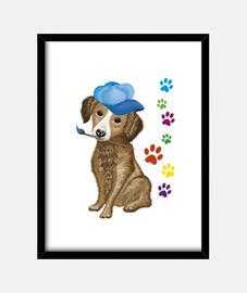 peintre chien