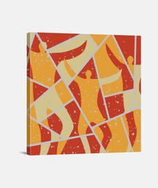 peinture de décor de danseuses abstrait