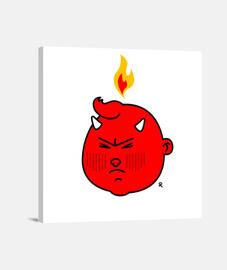 Pequeño diablo enfadado