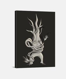 personaje de árbol espeluznante enredad
