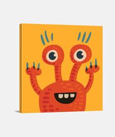 personaje de dibujos animados de color naranja divertida