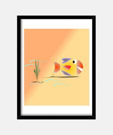 Pez en el agua, cuadro vertical