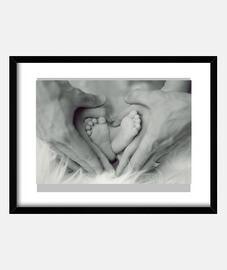 Pies y manos en forma de corazón