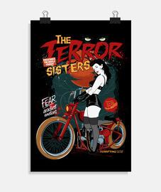 pin up rockabilly nuit terreur affiche vintage rockers