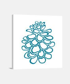 PINECONE estilizada azul