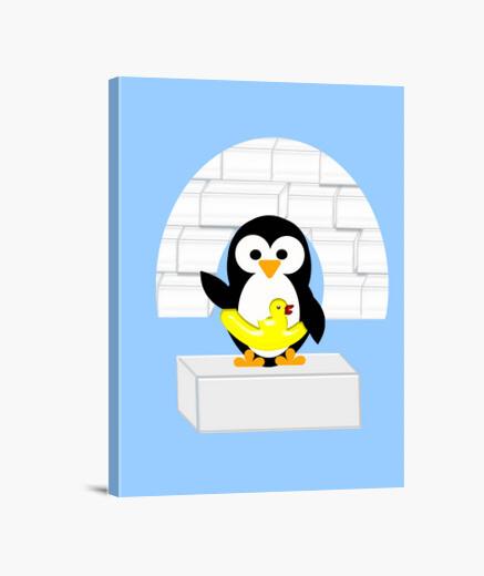 Lienzo Pingüino
