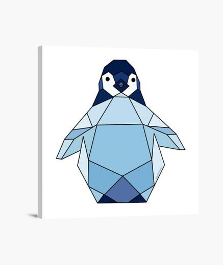 Lienzo Pingüino azul