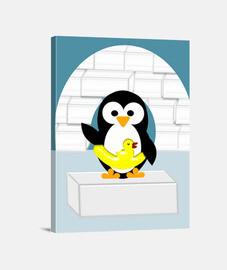 pingüino en alaska