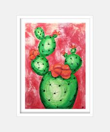pink background cactus