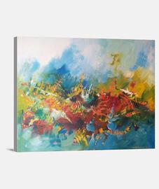 Pintura abstracta Lienzo Horizontal 4:3 - (40 x 30 cm)
