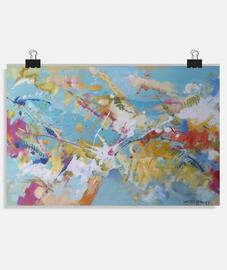 Pintura abstracta Póster horizontal 3:2 - (30 x 20 cm)