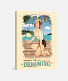 Pinup - Playa - Sigue soñando - Vintage