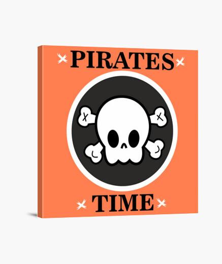 Lienzo Piratas b&n