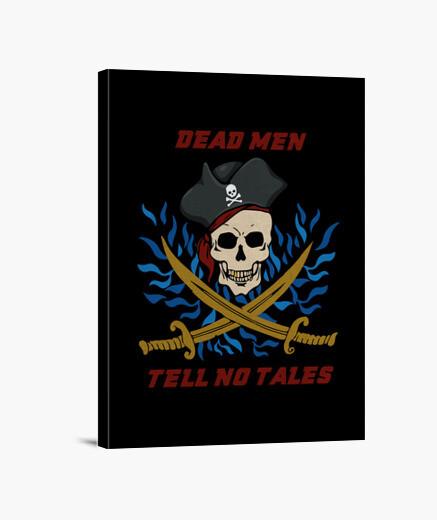 Lienzo piratas hombres muertos no cuentan cuentos
