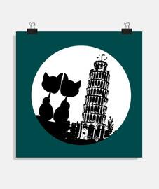 Pisa Moon love Cats