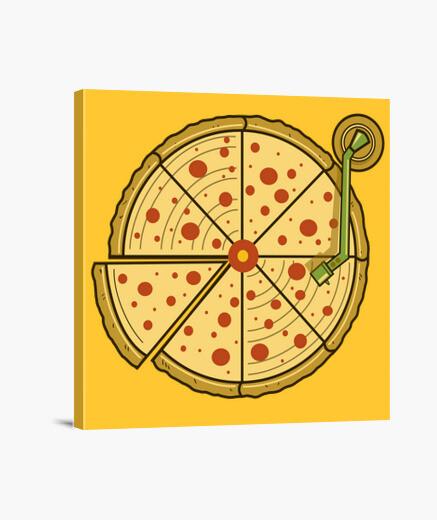 Tableau pizza vinyle