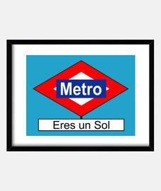 Placa de Metro Eres un Sol