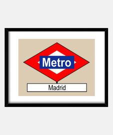 Placa Metro Madrid