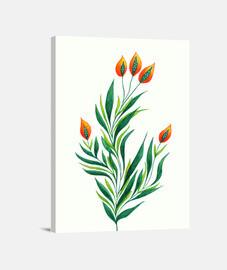 plante verte avec des bourgeons d'o