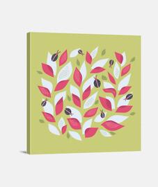 plantes et coccinelles très abstraites