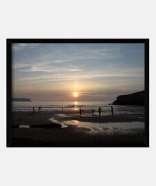 Playa de Los Locos - Cuadro con marco horizontal 4:3 (40 x 30 cm)