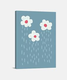 pluie pluie nuages temps pluvieux fleur