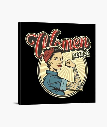 Lienzo Poder de las mujeres - Women power