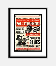 poe et les starfighters encadrés