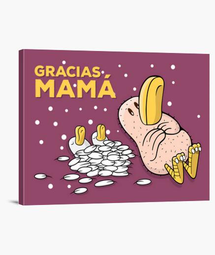 Pollo Gracias Mamá Lienzo