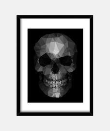 polygon skull grau