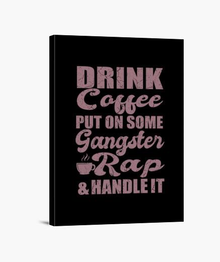Lienzo poner regalo de cita de café rap...