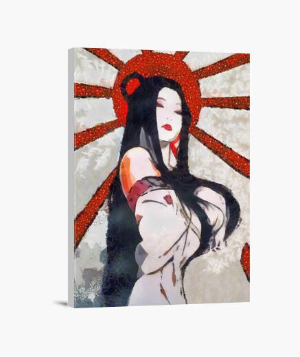 Lienzo POP ART Guerrera japonesa