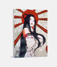 pop art guerriera giapponese