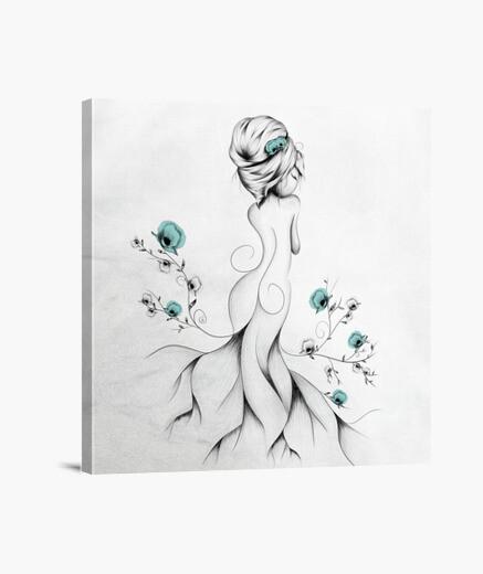 Poppy poem canvas