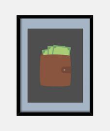 portefeuille avec de l'argent