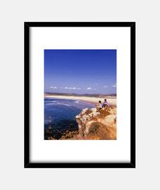 Portugal - Cuadro con marco negro vertical 3:4 (15 x 20 cm)