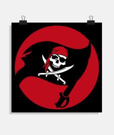poster - bandiera pirata jolly roger