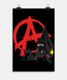 poster - blocco di gatto nero anarchia
