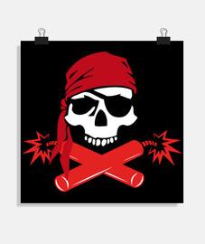 poster - dinamite pirata jolly roger