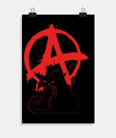 poster - gatto anarchico nero