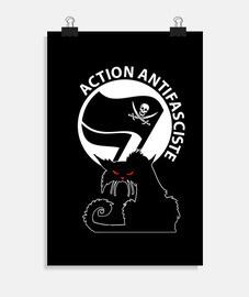 poster - gatto antifa pirata