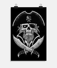 póster - gorro de pirata