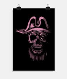 Poster - Skull Piratas Pink