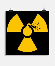 Poster - yellow nuke bomb
